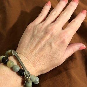 Jewelry - Double layer mixed blue jasper bracelet